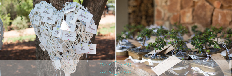 Table numbers and guest favours