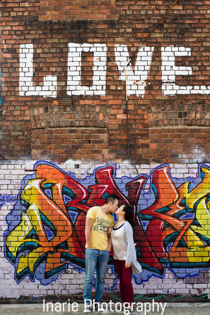 Martin & Debby Engagement shoot, Newtown graffiti