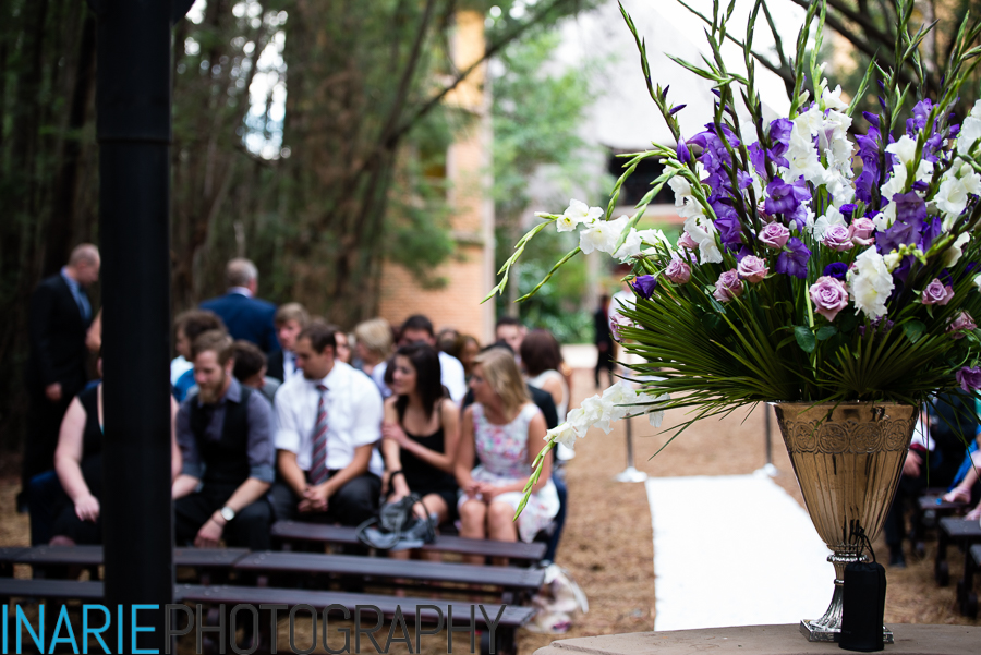 Guests at the ceremony in the forest