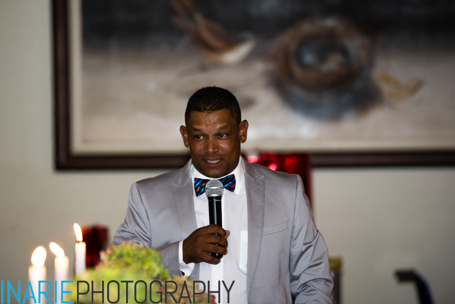The bestman Wendell speeching