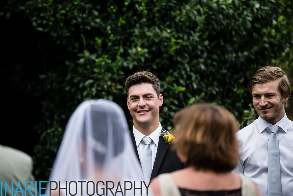 Grooms reaction at seeing his bride