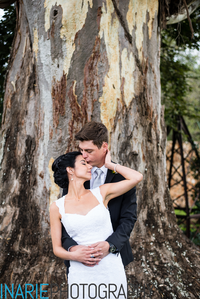 Bride and groom creative portraits
