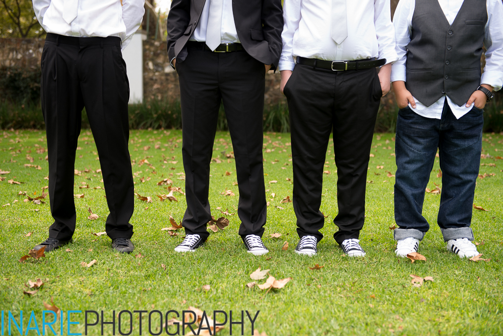 Tim and groomsmen converse sneakers