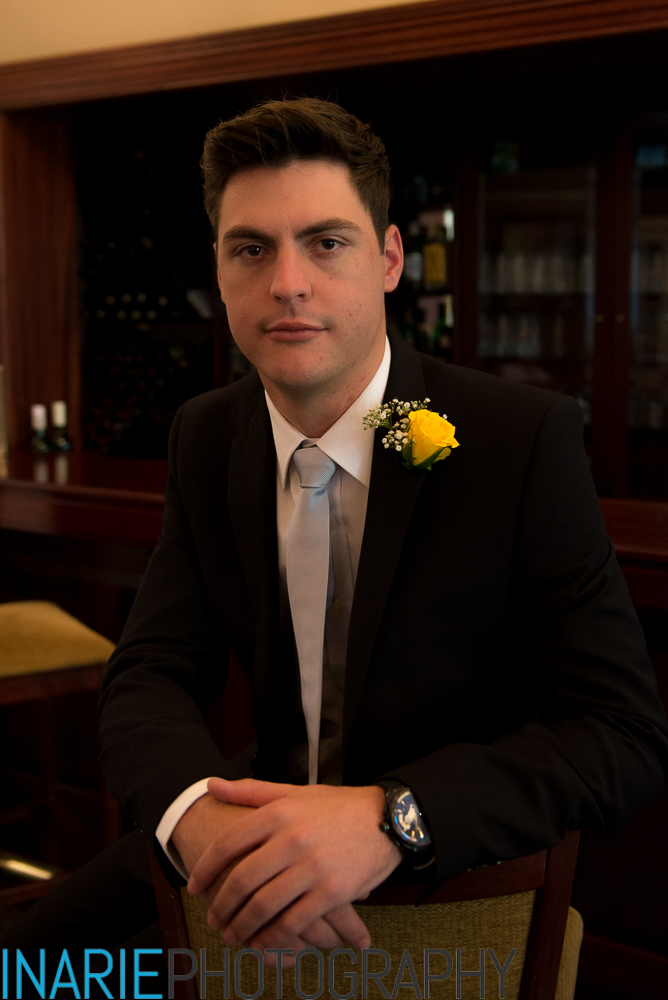 Groom in the bar