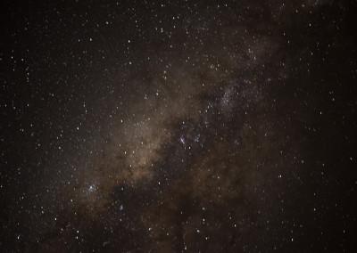 Long exposure of the night sky