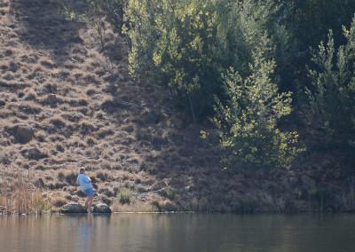 Renier in action fishing