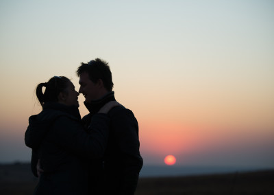 Mariska and Werner with the gorgeous sunset